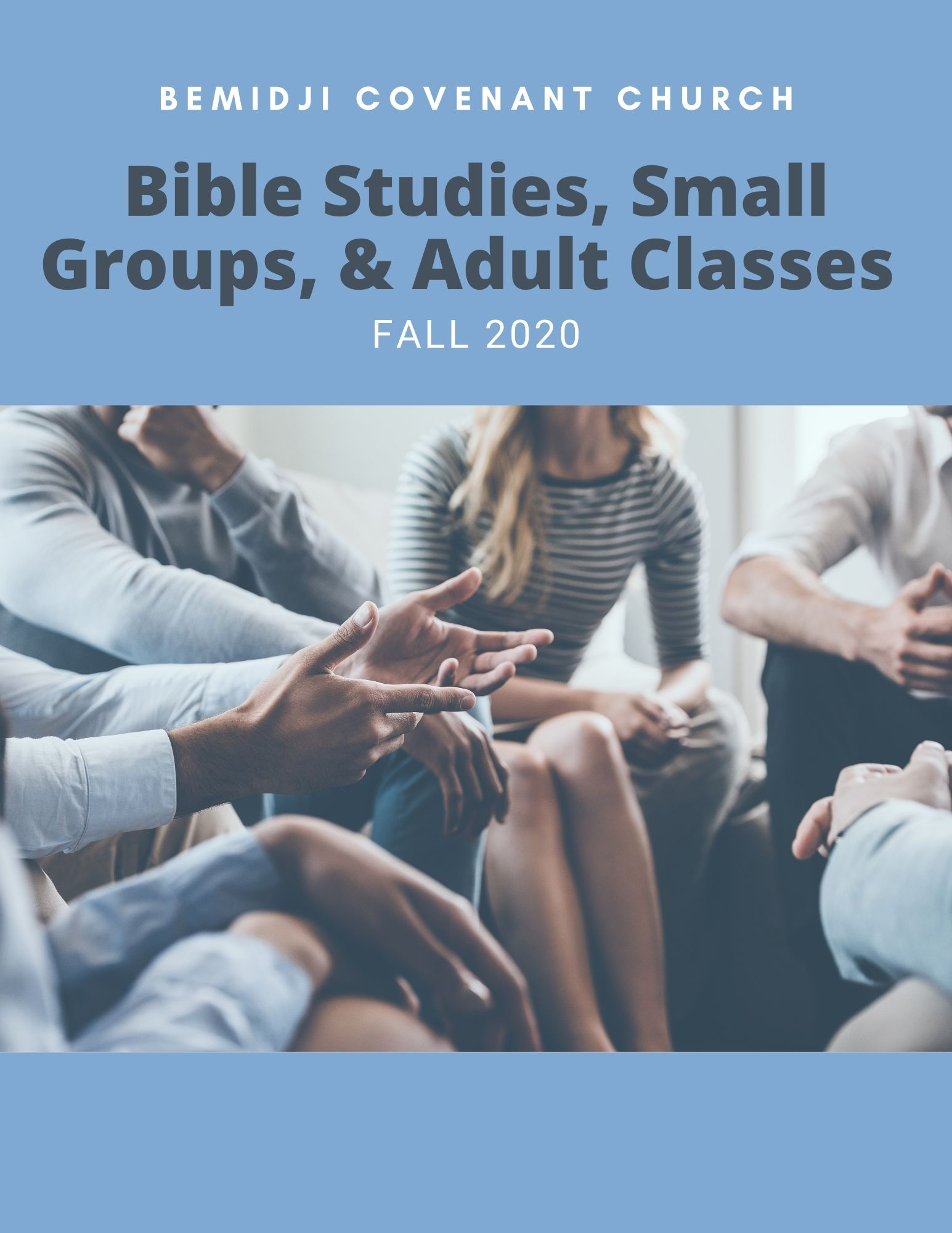 Bible Studies, Small groups, Adult Classes
