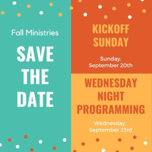 Fall Kickoff Save The Date